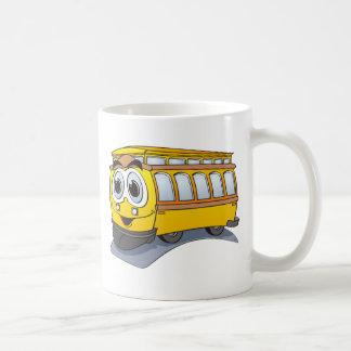 Yellow Trolley Cartoon Coffee Mug