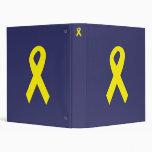 Yellow Troops Ribbon 3 Ring Binders