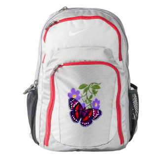 Yellow Tropical Butterfly Nike Backpack