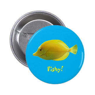 Yellow Tropical Fish Button