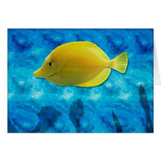 Yellow Tropical Fish Card