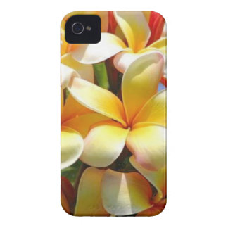 YELLOW TROPICAL FLOWERS iPhone 4 CASES