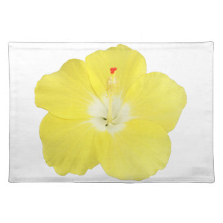 Yellow Tropical Hibiscus Flower Placemats