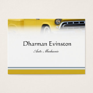 Yellow Truck Business Card