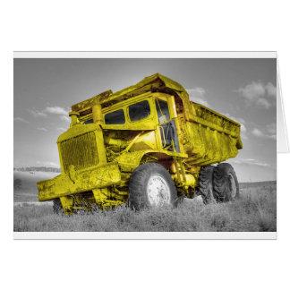 Yellow Truck Card