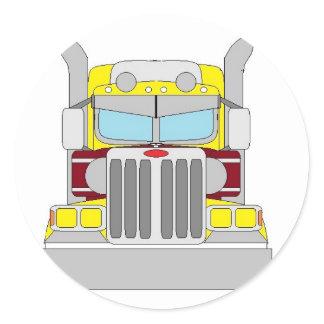 yellow truck stickers