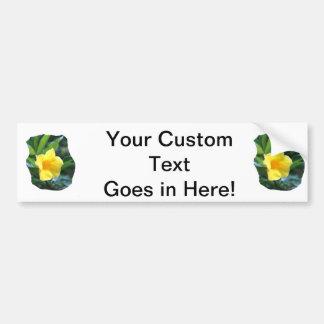 Yellow Trumpet Flower Photograph Car Bumper Sticker