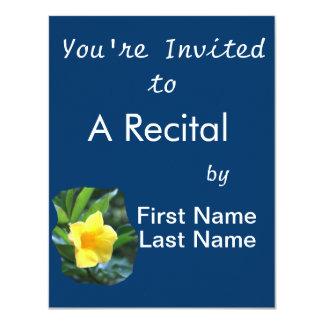 Yellow Trumpet Flower Photograph Custom Invite
