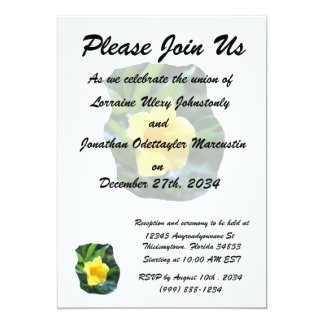 Yellow Trumpet Flower Photograph Personalized Announcement