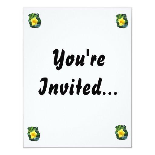 Yellow Trumpet Flower Photograph Invitation