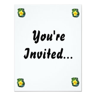 "Yellow Trumpet Flower Photograph 4.25"" X 5.5"" Invitation Card"