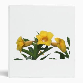 Yellow Trumpet Flowers cutout photo 3 Ring Binder