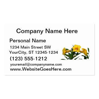 Yellow Trumpet Flowers cutout photo Business Cards