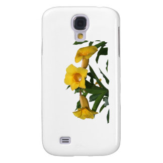 Yellow Trumpet Flowers cutout photo Samsung Galaxy S4 Case