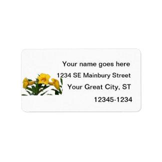 Yellow Trumpet Flowers cutout photo Custom Address Label