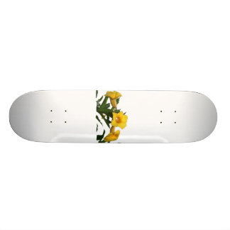 Yellow Trumpet Flowers cutout photo Skateboard
