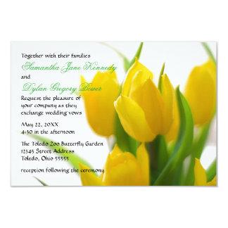 Yellow Tulip - 3x5 Wedding Invitation