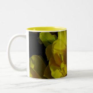 Yellow Tulip Art Two-Tone Coffee Mug