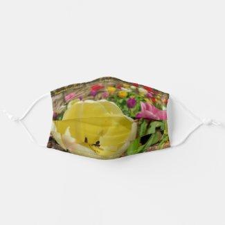 Yellow Tulip Cloth Face Mask