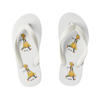 Yellow Tulip Cute Flower Child Floral Funny Girl Kid's Flip Flops