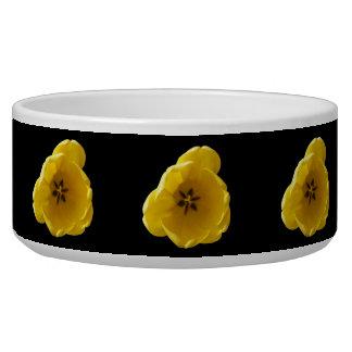 Yellow Tulip Dog Bowl