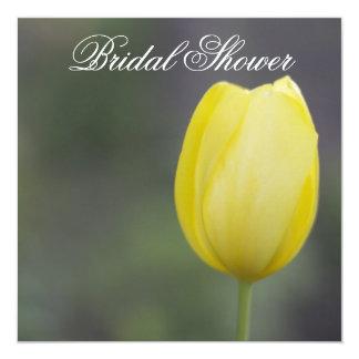 Yellow Tulip Floral Bridal Shower Invitation