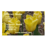 Yellow Tulip Flower Business Card
