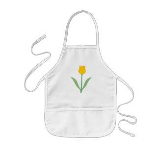 Yellow Tulip Flower. Kids' Apron