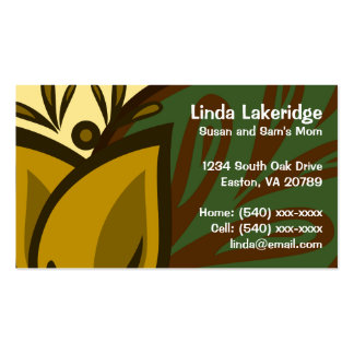 Yellow Tulip Flower Mommy Contact Card Double-Sided Standard Business Cards (Pack Of 100)