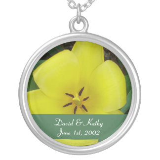 Yellow Tulip Flower Necklace