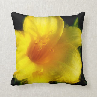Yellow Tulip Flower Picture Throw Pillows