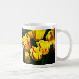 Yellow tulip flowers coffee mug