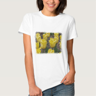 Yellow Tulip Flowers Fitted Ladies T-Shirt
