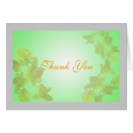 yellow tulip flowers thank you greeting card