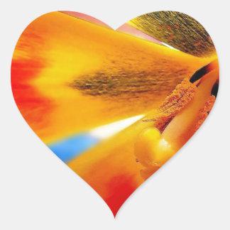 yellow tulip heart sticker