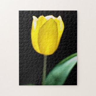 Yellow tulip jigsaw puzzle