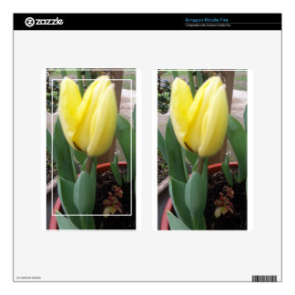 Yellow tulip kindle fire decal
