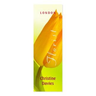 Yellow tulip macro photograhy, florist business cards