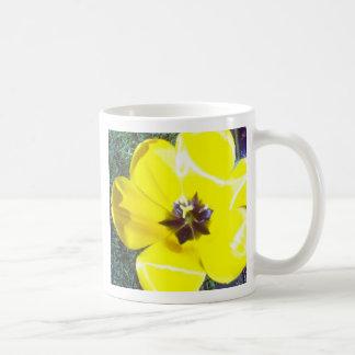 Yellow Tulip Classic White Coffee Mug