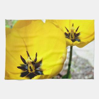Yellow Tulip Tea Towel