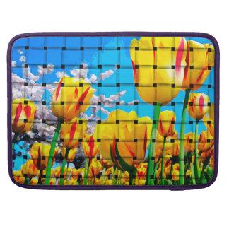 Yellow Tulip Weave MacBook Pro Sleeves