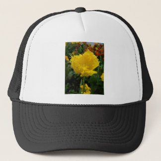 Yellow Tulip with water drops Trucker Hat