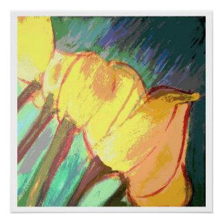 Yellow tulips - 20 x 20 glossy print poster