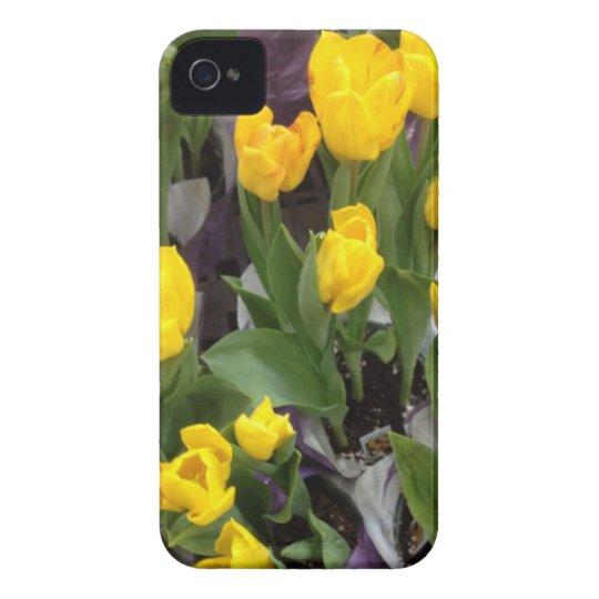 Yellow tulips #3853 iPhone 4 case