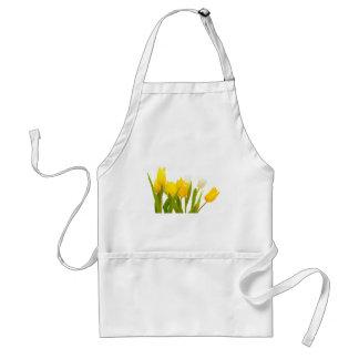 Yellow tulips adult apron