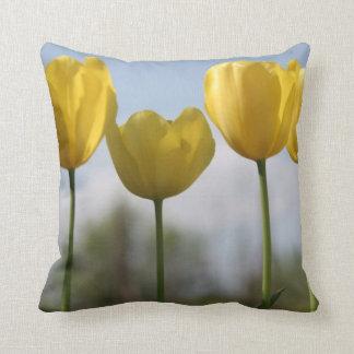 Yellow Tulips American MoJo Throw Pillow