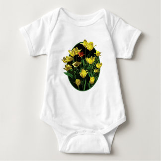 Yellow Tulips and an Orange Tulip Infants T-shirts