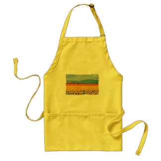 Yellow Tulips and School Bus Aprons