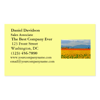 Yellow Tulips and School Bus Business Card