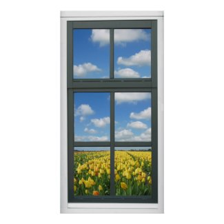 Unique Faux Window View Posters Wall Decoration For Your Office Cubicle Or  Basement At Home.
